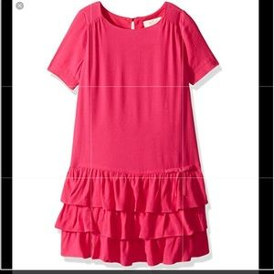 KATE SPADE NWT Girls Dress CABARET PINK TIERED sz3